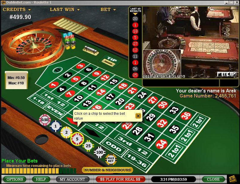 free roulette playing for fun
